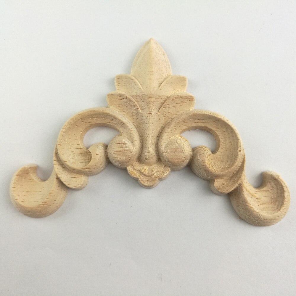 1PC Vintage Woodcarving Decal Corner Applique Frame for Home ...