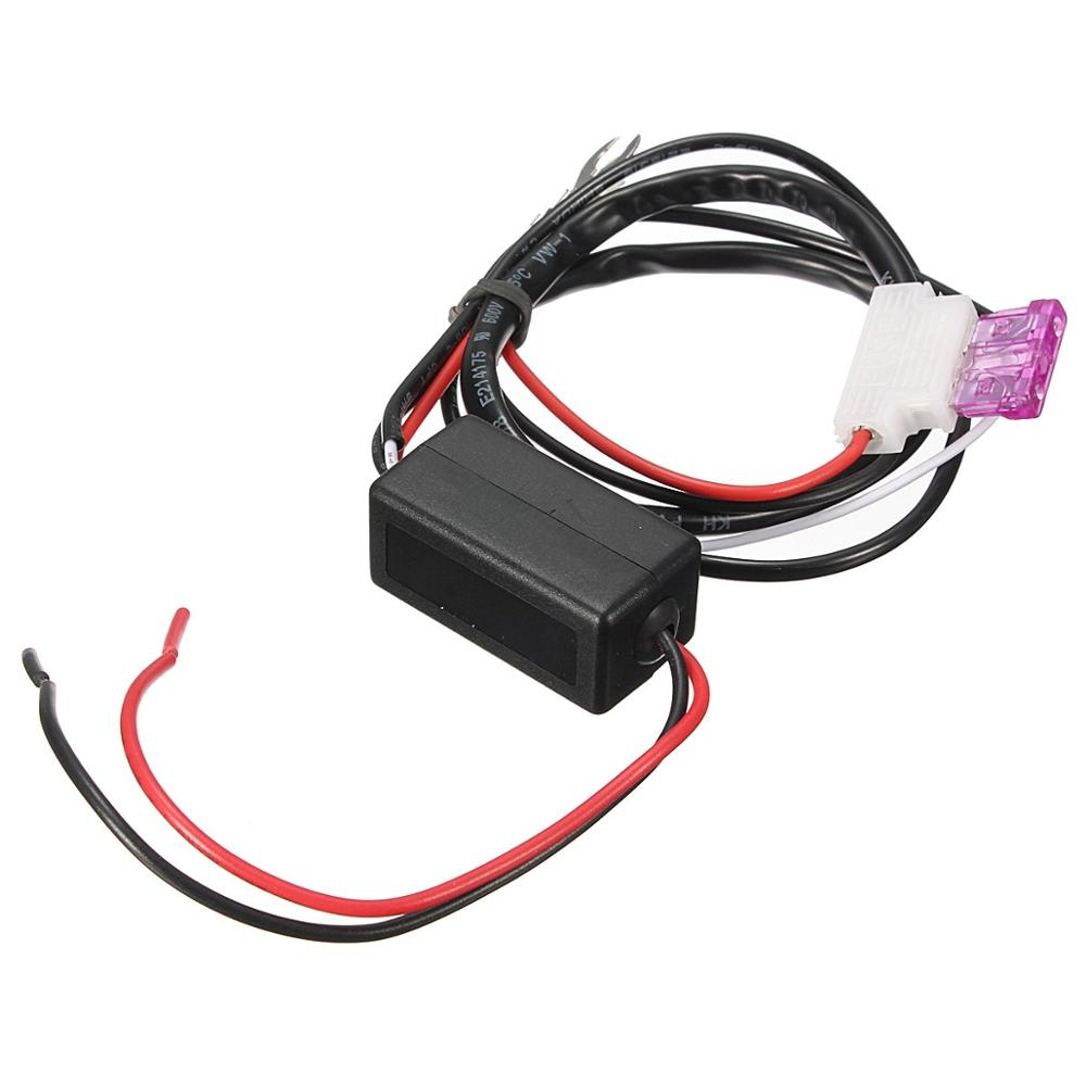 1Piece DC 12V 5A Car LED DRL Relay Daytime Running Light Relay Harness Auto Car Controller On/Off Switch Stop Light Hot Sell sg152b dc 24v 130w 3 pin led light fast blink flash auto car flasher relay 5 pcs