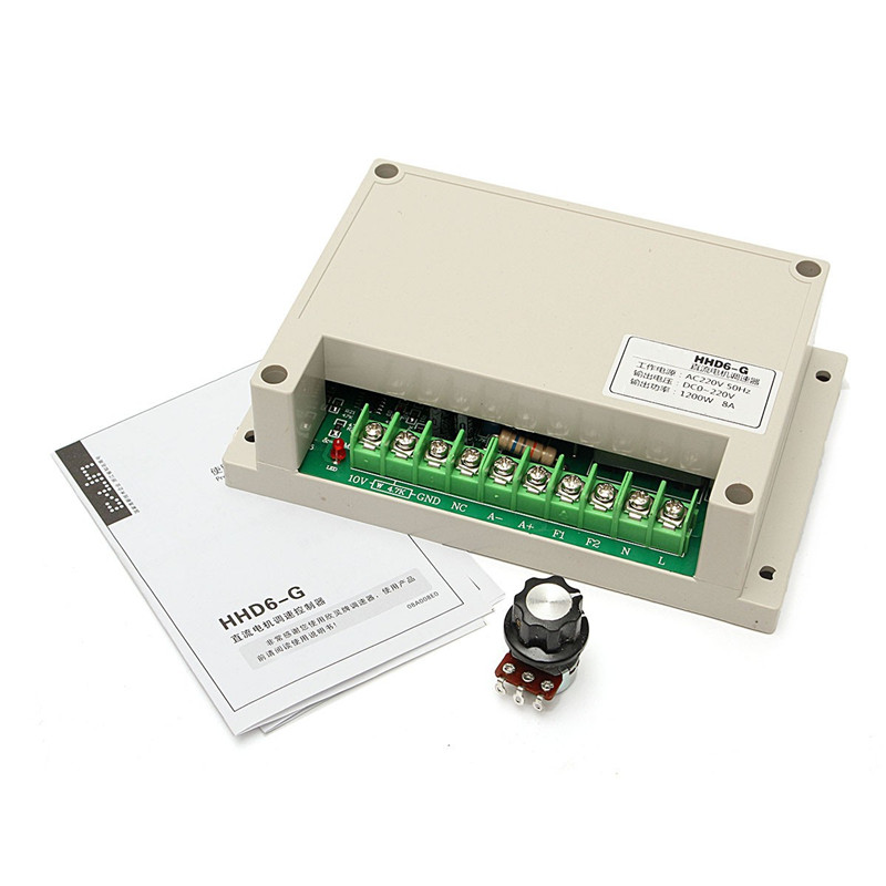 Input AC 220V Output DC 0-220V Motor Speed Controller 1200W 10 50v 100a 5000w reversible dc motor speed controller pwm control soft start high quality
