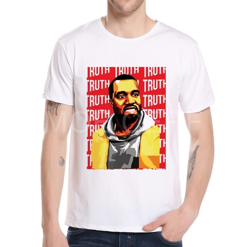 2018 위장 망 Kanye 웨스트 TShirt 티 힙합 남자 짧은 소매 오 넥 Kanye 웨스트 T 셔츠 Streetwear K5-21 #