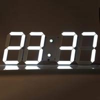 Modern Design Remote Control Digital LED Wall Clock Alarm Stopwatch Thermometer Countdown Calendar Support Wholesale US/EU PLUG