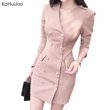 89716c3a16 Buy gold button blazer dress and get free shipping on AliExpress.com