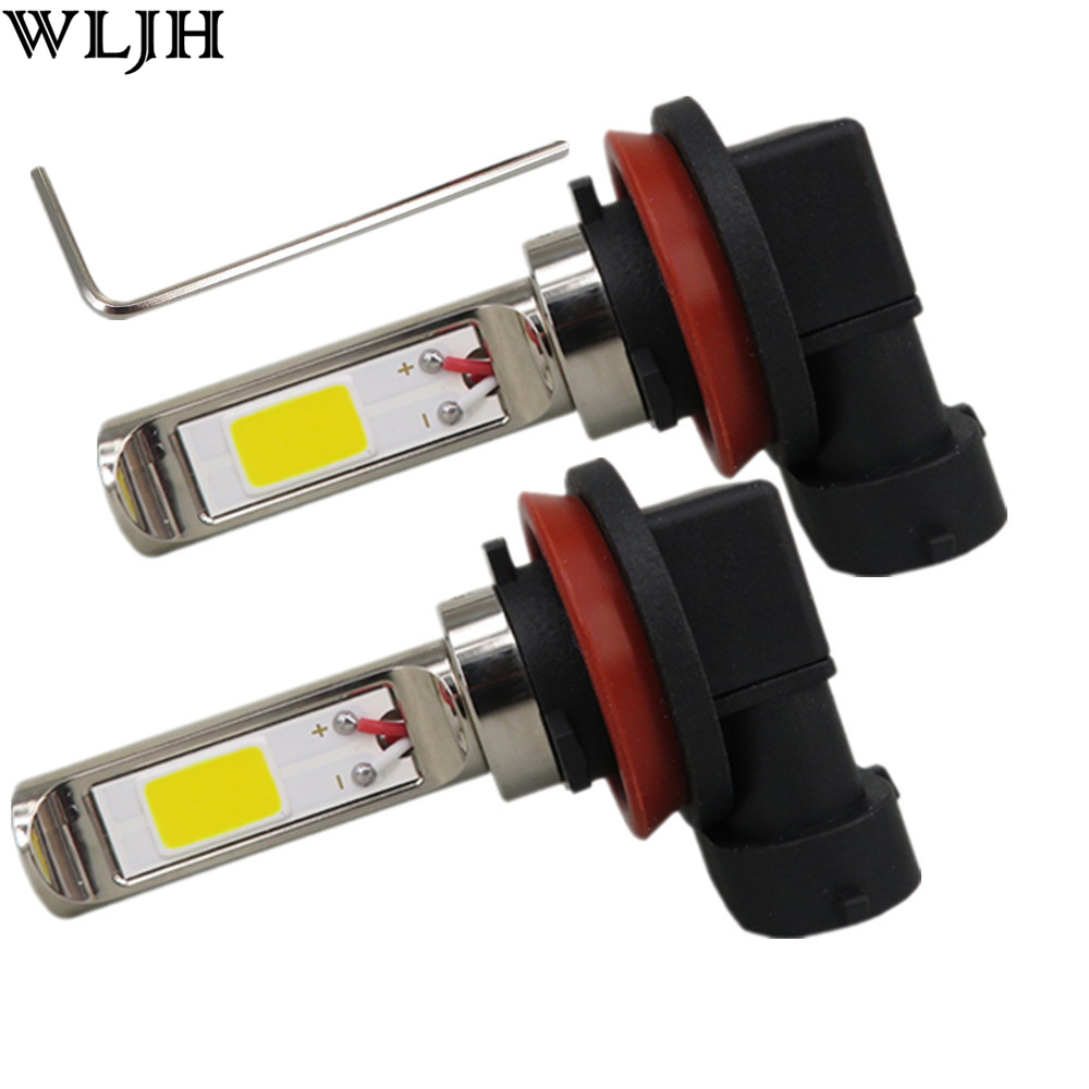 WLJH 2x H8 30W COB Led Fog Lamp Driving Light Bulb For Nissan Juke Altima Armada Leaf Pathfinder Quest Rogue Sentra terra 2015 for nissan patrol y62 armada accessories original design fog lamp with chrome fog light cover
