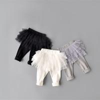 New Baby Girl Pants Kids Skirt Leggings Tutu Flower Ruffle Skirt Infant Candy Color Cake Skirt Leggings Honey Trousers