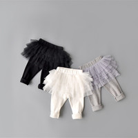New Baby Girl Pants Kids Skirt Leggings Tutu Flower Ruffle Skirt Infant Candy Color Cake Skirt