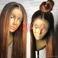 MRWIG 12 28 Natural Straight Synthetic Hair High Temperature Fiber Heat Resistant Glueless Front Lace Wig Middle Part