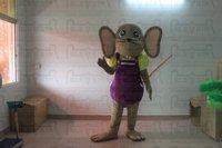 Костюм мыши крыса талисмана фиолетовый Штаны мыши маскарадный костюм