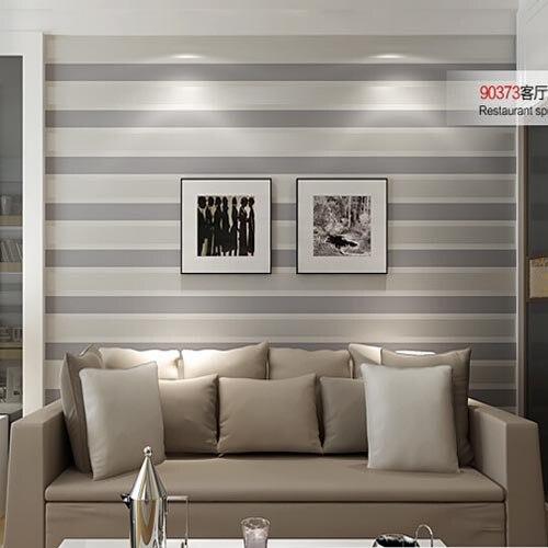 3D Tapeten Streifen Tapete Gestreiften Beflockung Schlafzimmer Oder  Wohnzimmer Zimmer Oder TV Hintergrund Wand Beige Grau