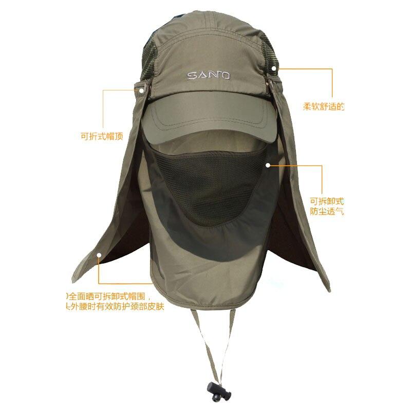 Prix pour SANTO M-11 En Plein Air Hommes/Femmes cou protection soleil-ombrage à séchage rapide la jungle chapeau/cap Anti-UV Taille libre