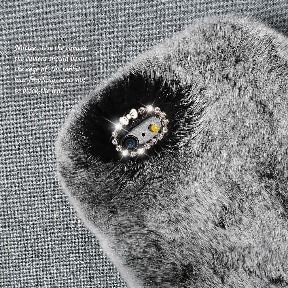 Kisscase kelinci berbulu case untuk iphone 5 s 5 se coque mewah - Aksesori dan suku cadang ponsel - Foto 2