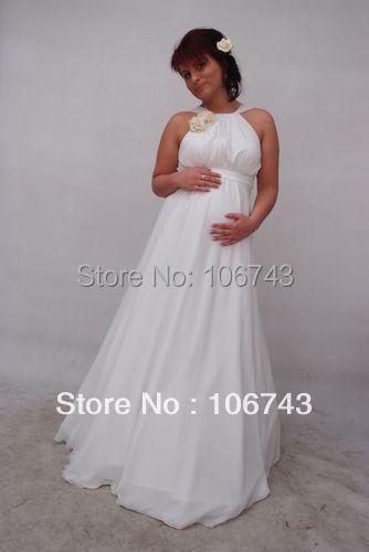Бесплатная доставка, распродажа Средства ухода за кожей для будущих мам Сделано в Европе беременных формальный повод платье CustomMade Белый ве...