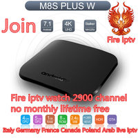 IPTV subscription lifetime free M8S Plus Android Tv Box france italy 2900 free iptv channels m3u europe arabic Smart set top box