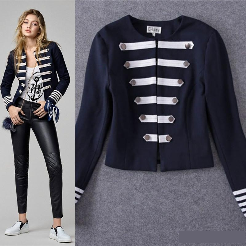 Popular Womens Navy Military Coat-Buy Cheap Womens Navy Military ...