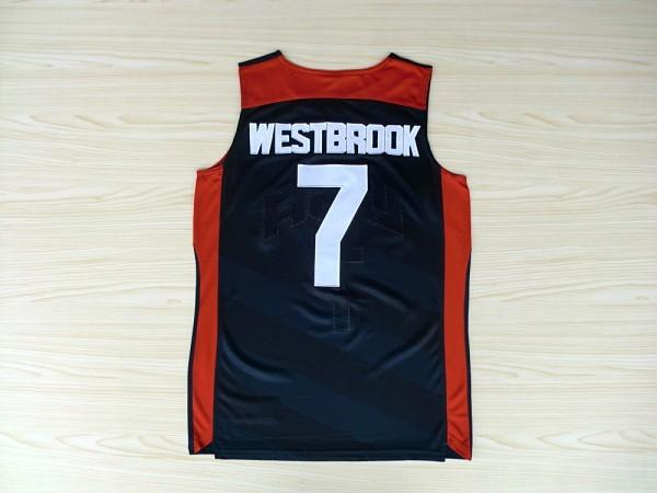 best service 7de7d 2d7c7 7 Russell Westbrook 2012 Dream Team USA London Games basketball Jerseys  Throwback Stitched -in Basketball Jerseys from Sports & Entertainment on ...