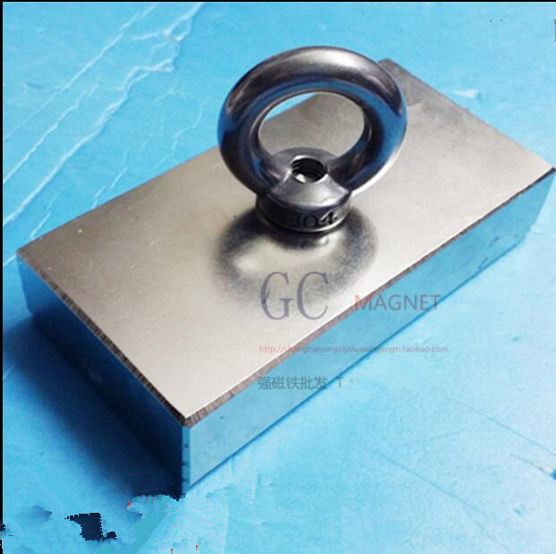 1PCS 100X50X20 Super Strong Salvage Magnet Rare Earth Disc Magnet with ring magnet 100*50*20mm Neodymium Magnets 100X50X20mm 100 pcs 5mm x 1mm disc rare earth neodymium super strong magnet n35 craft mode