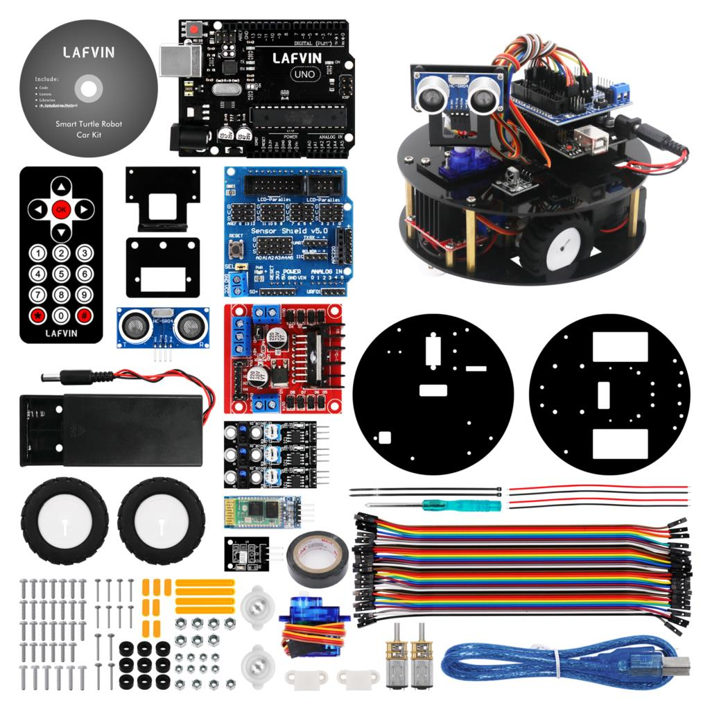 LAFVIN Smart Robot Car Kit Turtle DIY Assembly Kit with Tutorial for Arduino