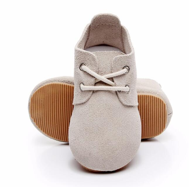 New style lace up High quality genuine leather handmade baby maccasins shoes hard sole kids girls and boys shoes hot sale