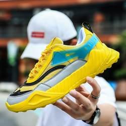 Летние дышащие кроссовки модные мужские удобные легкие Hommes Обувь zapatillas de deporte популярные мужские повседневные туфли