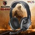 3 em 1 Marca Sades SA922 Pro PC Gaming Headset Surround 7.1 fones de ouvido estéreo de som fones de ouvido com microfone para xbox 360 ps3 pc gamer