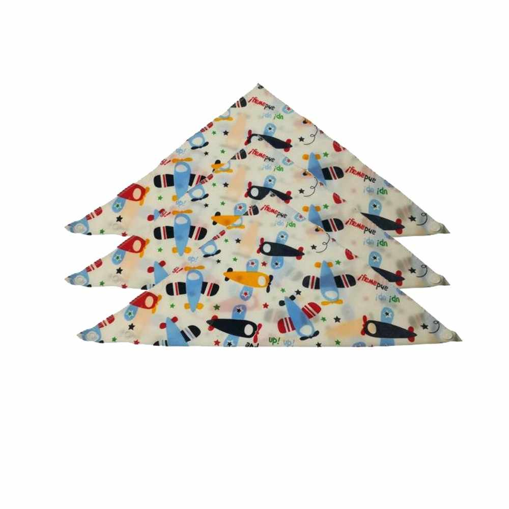 3 piezas nuevo lindo bebé Baberos dibujos animados impresión algodón recién nacido niñas y niños niño triángulo bufanda Bandana dropshipping