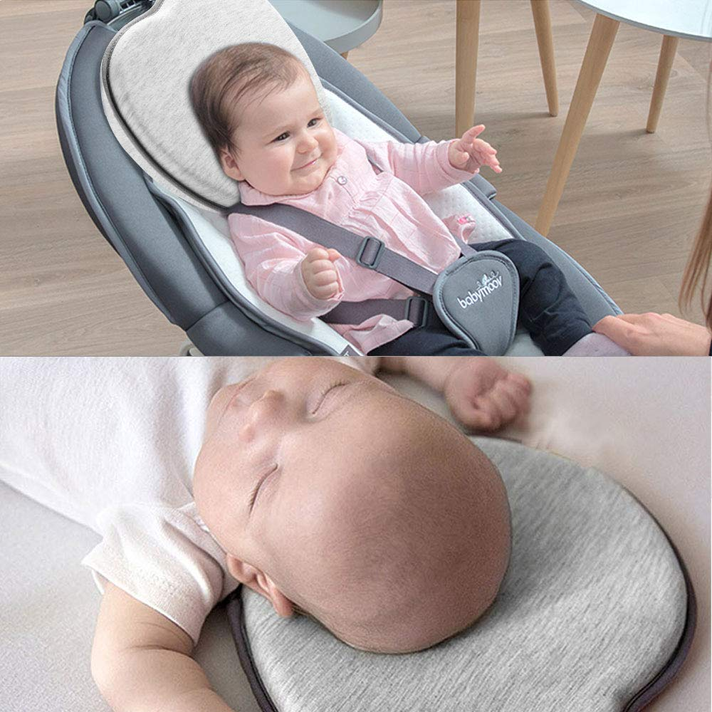 Head Shaping Anti Roll Baby Pillow Cushion And Memory Foam Pillow To Prevent Flat Head 4