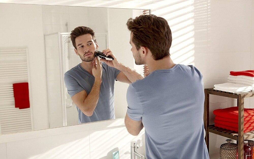 Men's grooming kit trimmer hair clipper turbo beard trimmer stubble precision shaping nose ear trimer facial shaving machine  1