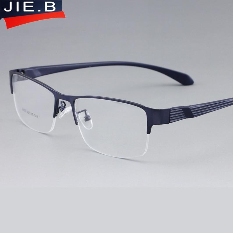 Eyeglasses Wide Frame : JIE.B Square Wide Eyeglasses Frame Full Rim Men Optical ...