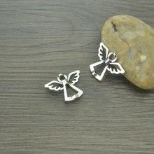 Pingentes prateados antigos para pulseira, pingentes para fazer joias, achados, faça você mesmo, feito à mão 4218b, 15/pçs/lote