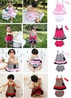 2016 Hot Sale Baby Girls Summer Children S Clothing Hair Band Suspender Skirt Laciness Shorts Pp