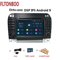 7 Android 9 for Mercedes Benz W220 W215 S280 S320 S350 S400 S500 s class car gps navigation,octa core,px5,px6,DSP,3g,4GB RAM