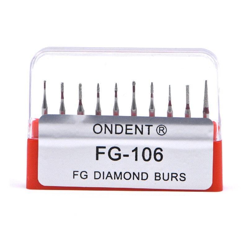 Image 4 - Dental Diamond Burs Drill Dental Burs Dia burs for High Speed Handpiece Medium FG105 106 Dental Tools Dentistry LabDental Drills&Brushes   -