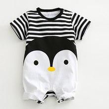 2020 macacão de bebê verão adorável do bebê roupas da menina do menino recém-nascido pinguim manga curta roupas do bebê menino menina macacões