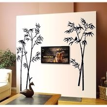 % cartoon animal bird on the black bamboo wall stickers home decor for living room bedroom kids room Art poster wallpaper(China)