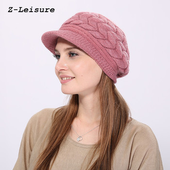 Women Skullies Caps Wool Warm Hat Winter Beanies