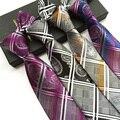 Gravata da moda Upscale Poliéster Gravatas Gravatas Xadrez Ternos De Negócio De Casamento Presentes Corbatas Laços para Homens Gravatás 8 cm de largura