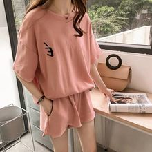 Plus Size Tracksuit Women Two Piece Set Pink Outfits Top and Pants Matching Sets Grey Biker Shorts T-shirt Short