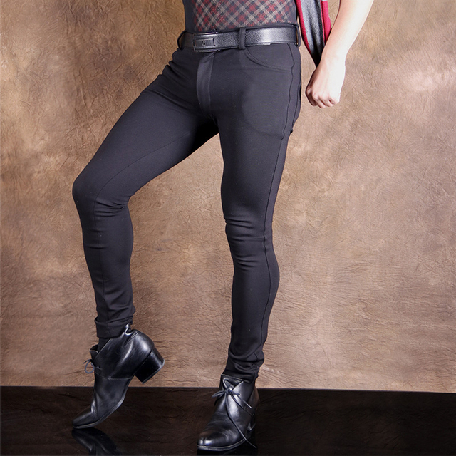 Sexy Men Plus Size Fashion High Elastic Leica Pencil Pants Casual Soft  Comfortble Tight Trousers Erotic