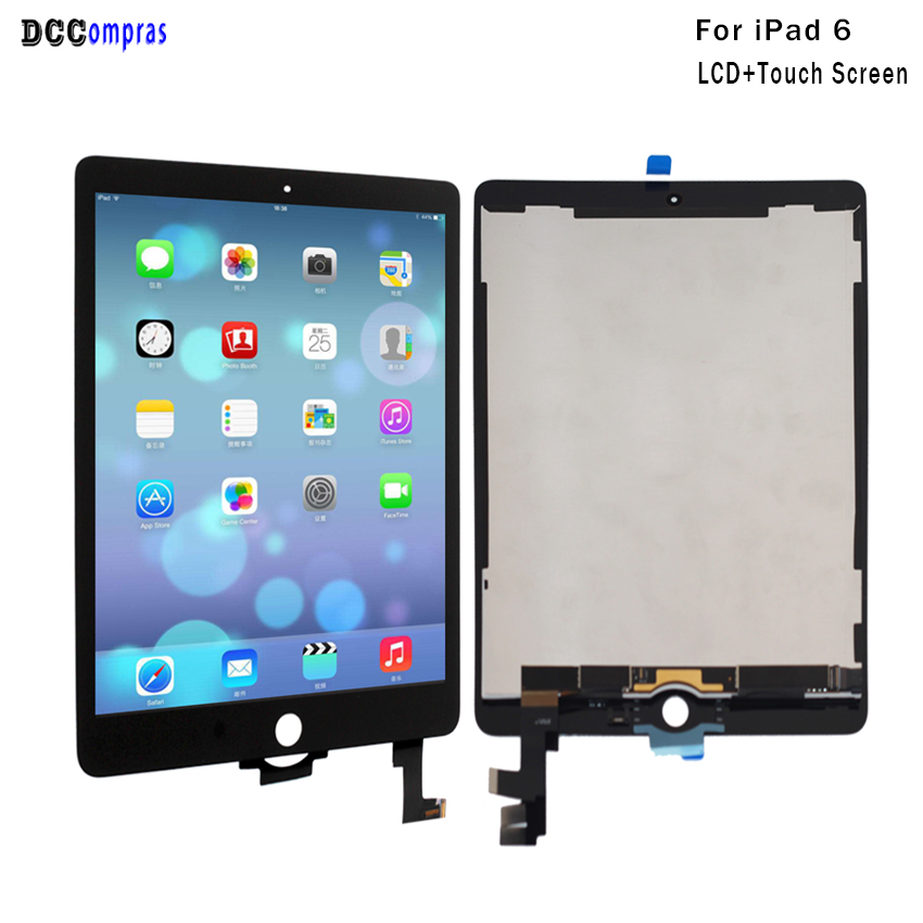 For iPad 6 Lcd Display Touch Screen Digitizer Panel Assembly Replacement For iPad Air 2 Display Tablet LCDs Free Tools