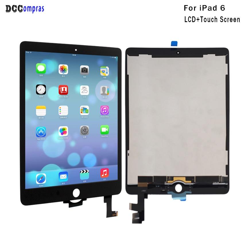 Pour iPad 6 Lcd Affichage à L'écran Tactile de Remplacement Assemblée Panel Digitizer Pour iPad Air 2 Affichage Tablet Lcd Outils Gratuits