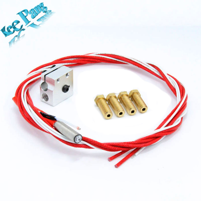3D printer parts  Volcano hot end eruption pack kit set heater block + nozzle pack for 1.75  Volcano kit Free shipping