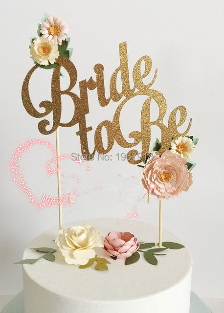 Free shipping bride to be gold glitter paperboard cake topper free shipping bride to be gold glitter paperboard cake topper wedding party silver glitter junglespirit Choice Image