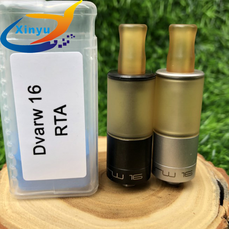 2018 NEWEST Dvarw 16 RTA 316 Stainless Steel 16mm Diamater Airflow 16mm Single Coil 2ml DIY Rebuildable TANK Vs Dvarw Mtl Rta