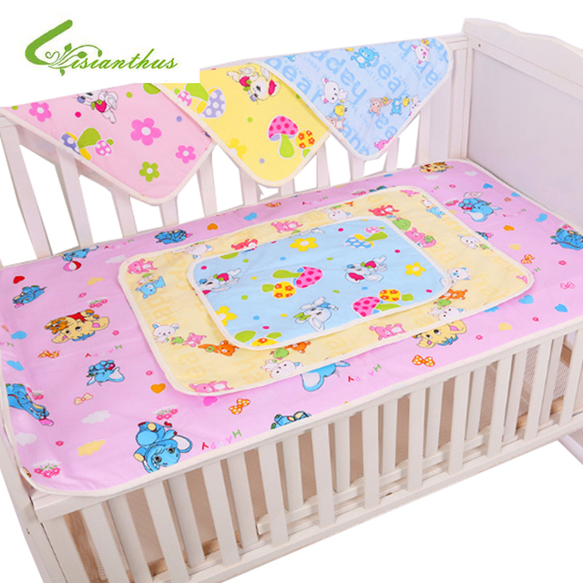 Waterproof Mattress Protector Baby Diaper Changing Pad Newborn Mat Cotton Eva Layer