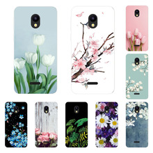 Meizu C9 Pro Case,Silicon Blue Plum Painting Soft TPU Back C