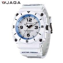 JAGA 2017 New Outdoor Men Sports Watches Brand Digital Quartz Multifunction Waterproof Military Watch Wristwatches AQ934