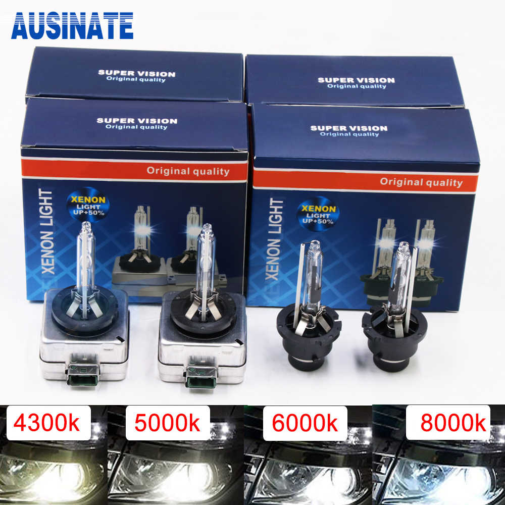 One Pair D1C D1S Xenon Bulb 4300K 5000K 6000K 8000K 35W Xenon Lamp For Car Auto HID Bulb Xenon D1S Car Light
