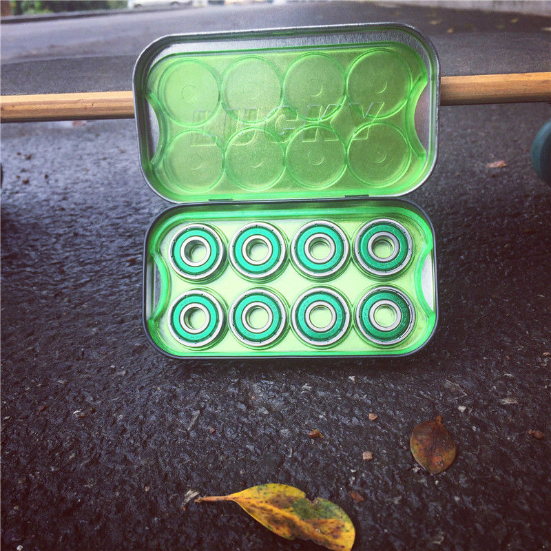 Купить с кэшбэком Pro Quality 8pcs/Set Skateboard Bearings Skateboarding Bearings Ceramic Chrome Steel Ball Bearings