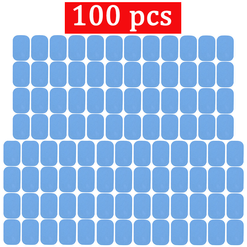 100 Pcs Replacement Fitness Gel Stickers Hydrogel Electrode Pad/Patch For EMS Muscle Training Massager ABS Abdominal Trainer