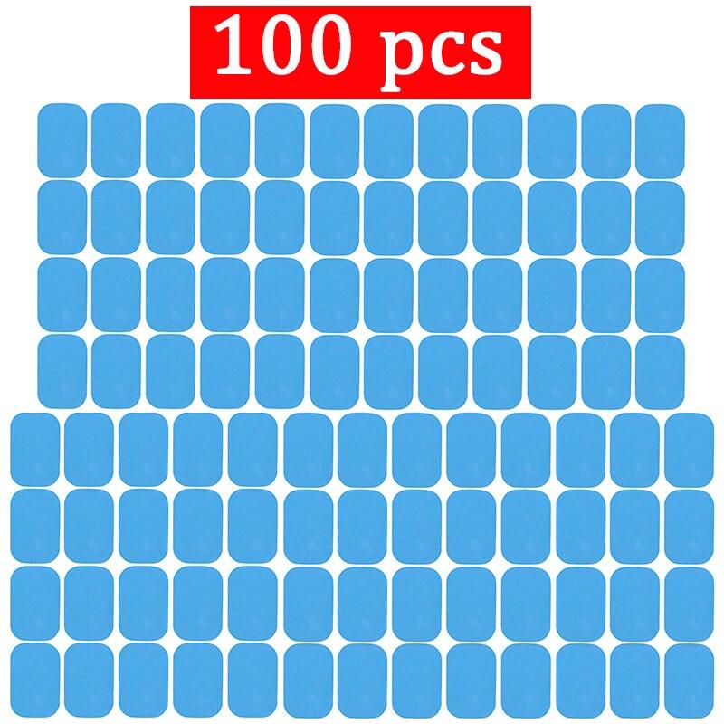 100 pièces Remplacement Fitness Autocollants de Gel D'hydrogel Coussin D'électrode/Patch Pour EMS Entraînement Musculaire Masseur ABS Entraîneur Abdominal