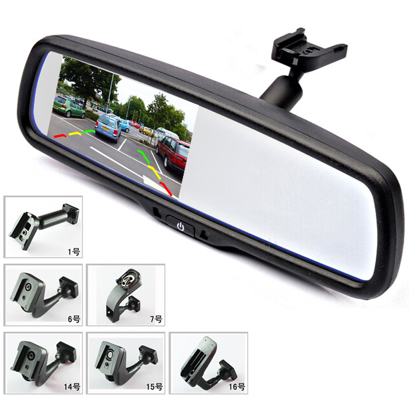 4 3 TFT LCD Car Rear View Bracket Mirror font b Monitor b font Parking Assistance
